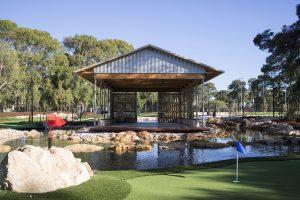 perth mini golf function